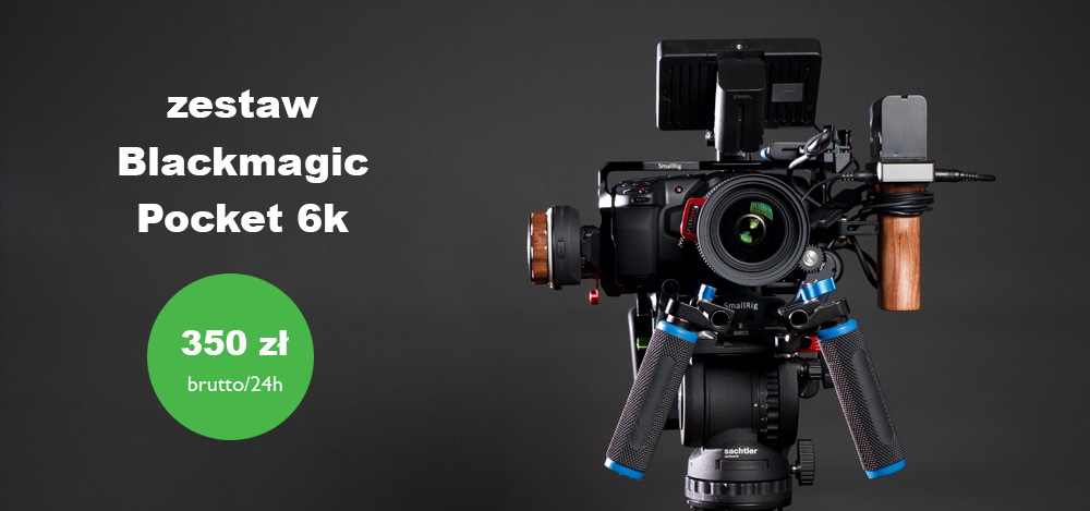 ZESTAW BLACKMAGIC POCKET 6K